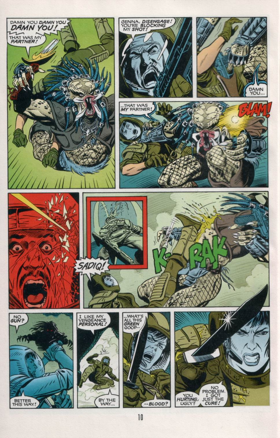 Read online Aliens/Predator: The Deadliest of the Species comic -  Issue #6 - 12