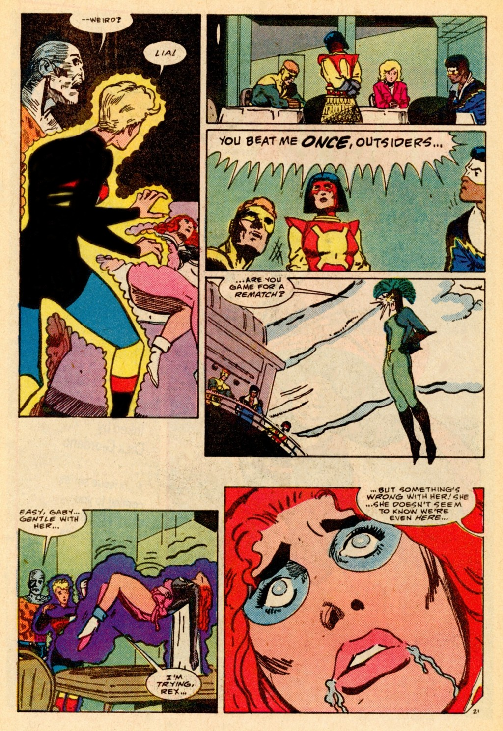 Read online Adventures of the Outsiders comic -  Issue #37 - 22