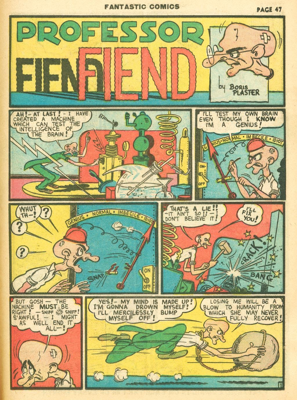 Read online Fantastic Comics comic -  Issue #12 - 49