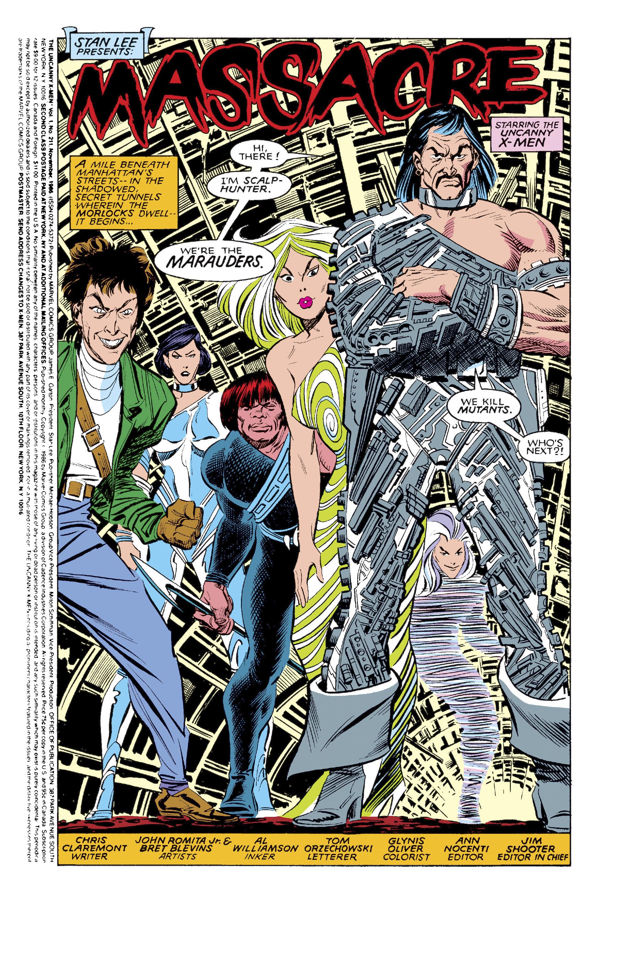 Read online Uncanny X-Men (1963) comic -  Issue #211 - 2