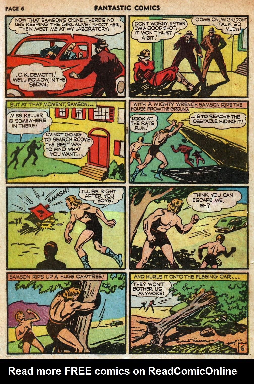Read online Fantastic Comics comic -  Issue #18 - 8