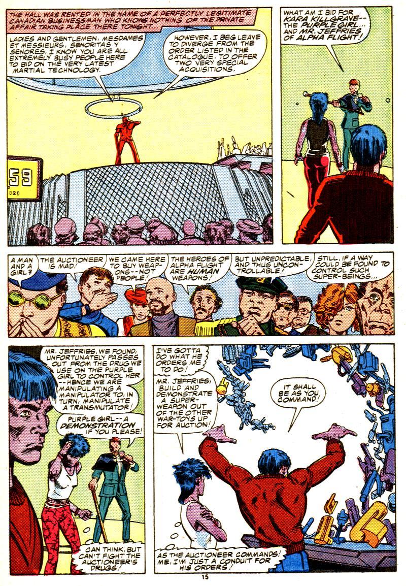 Read online Alpha Flight (1983) comic -  Issue #42 - 16