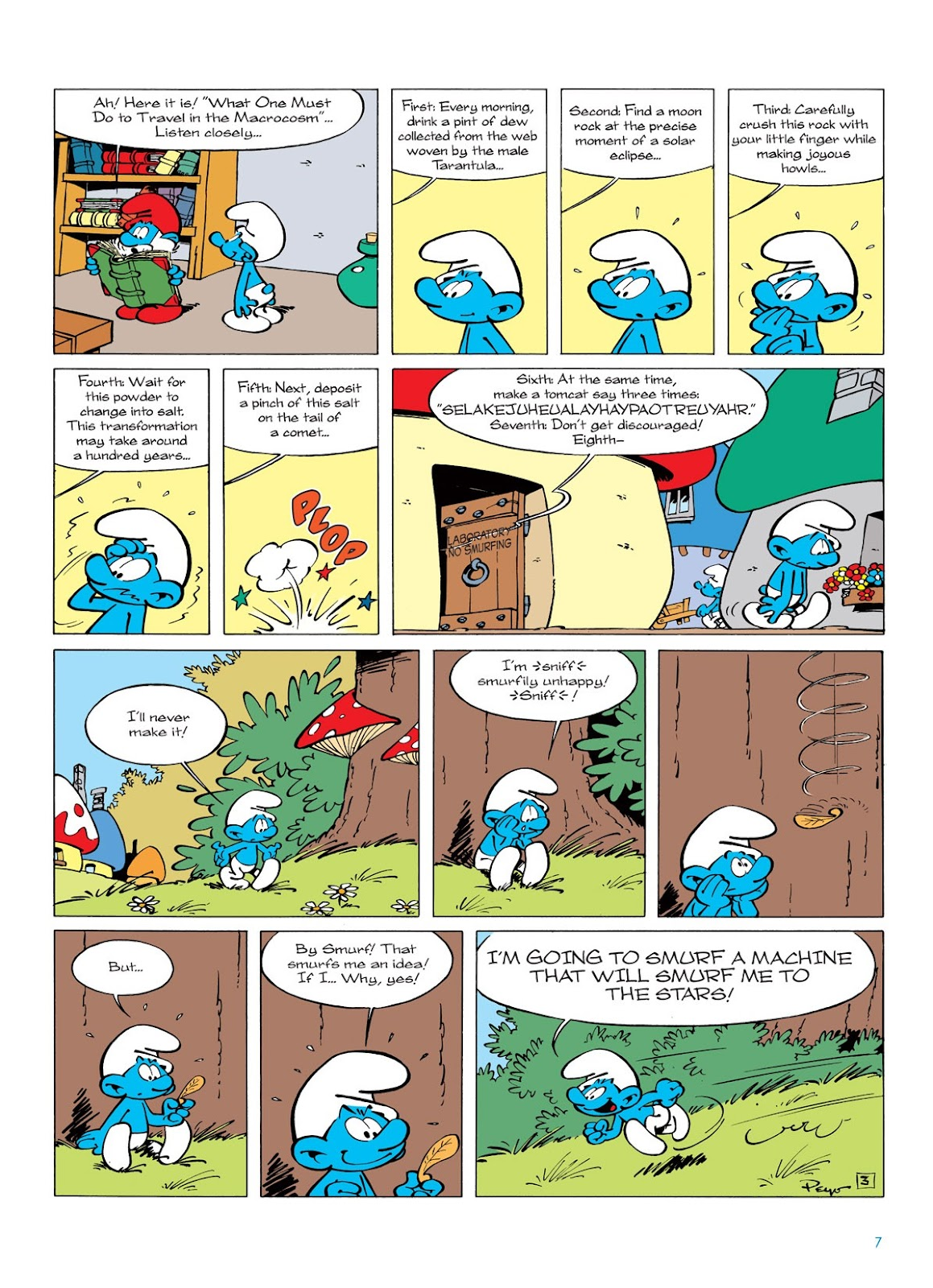 Read online The Smurfs comic -  Issue #7 - 7