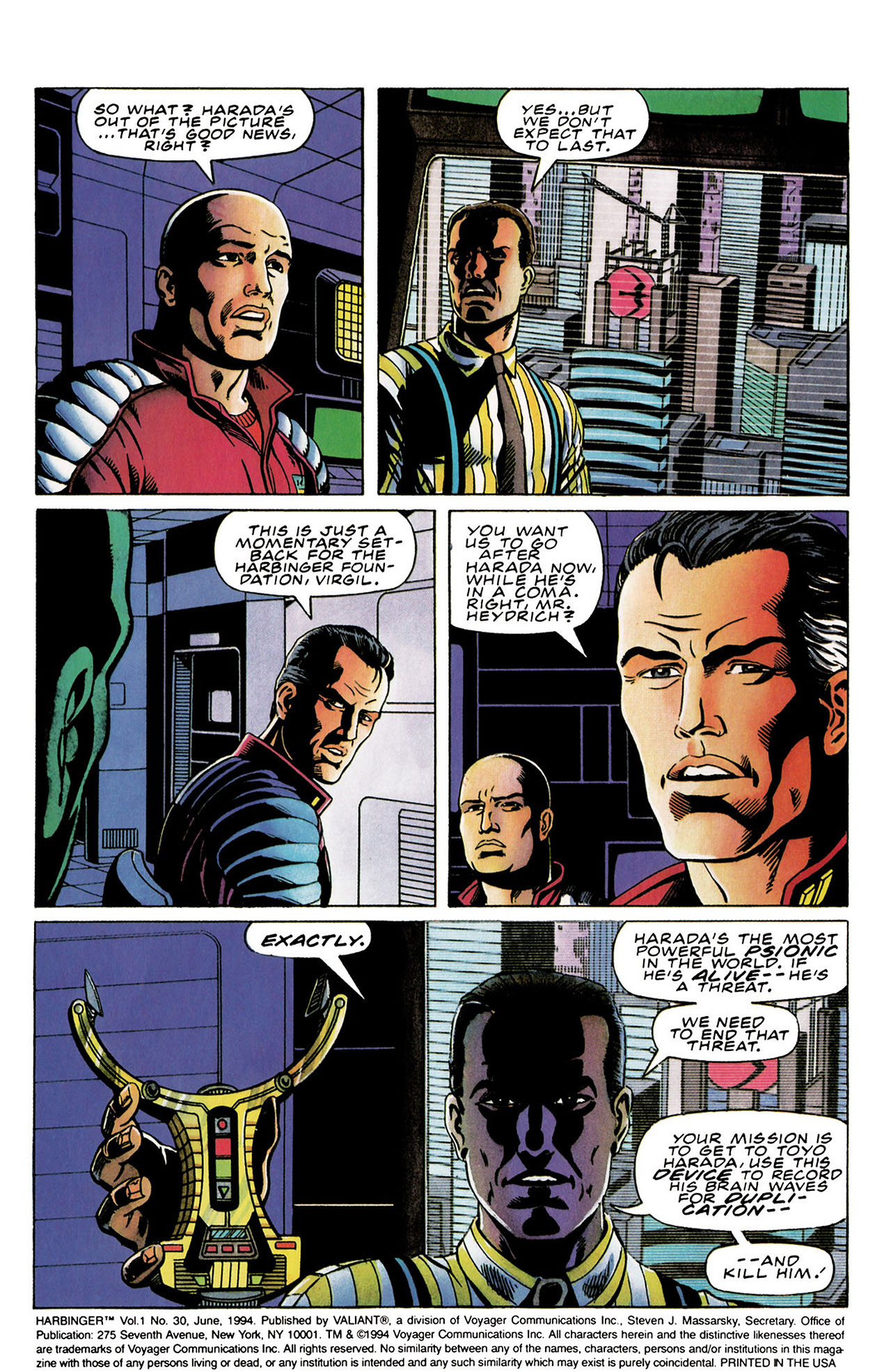 Read online Harbinger (1992) comic -  Issue #30 - 3