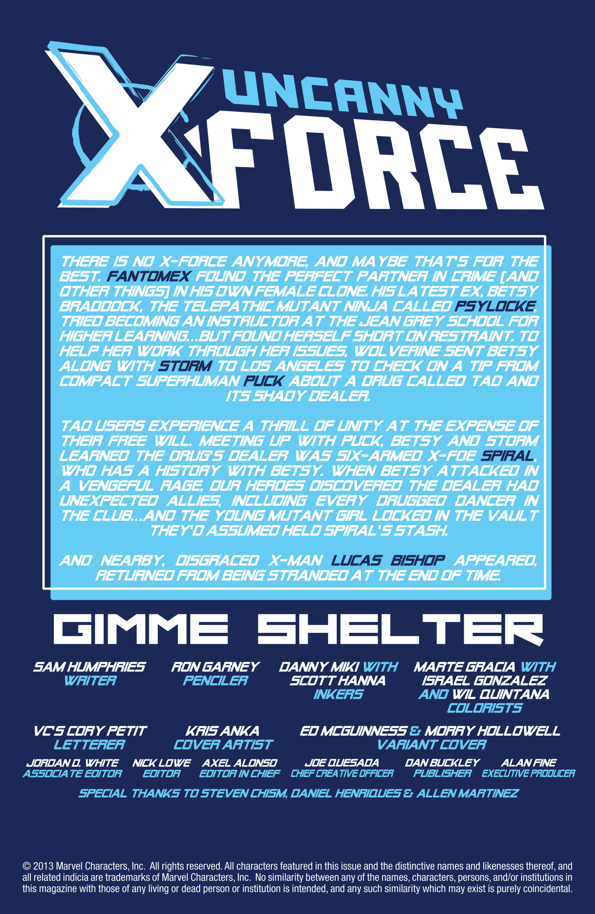 Read online Uncanny X-Force (2013) comic -  Issue #2 - 2