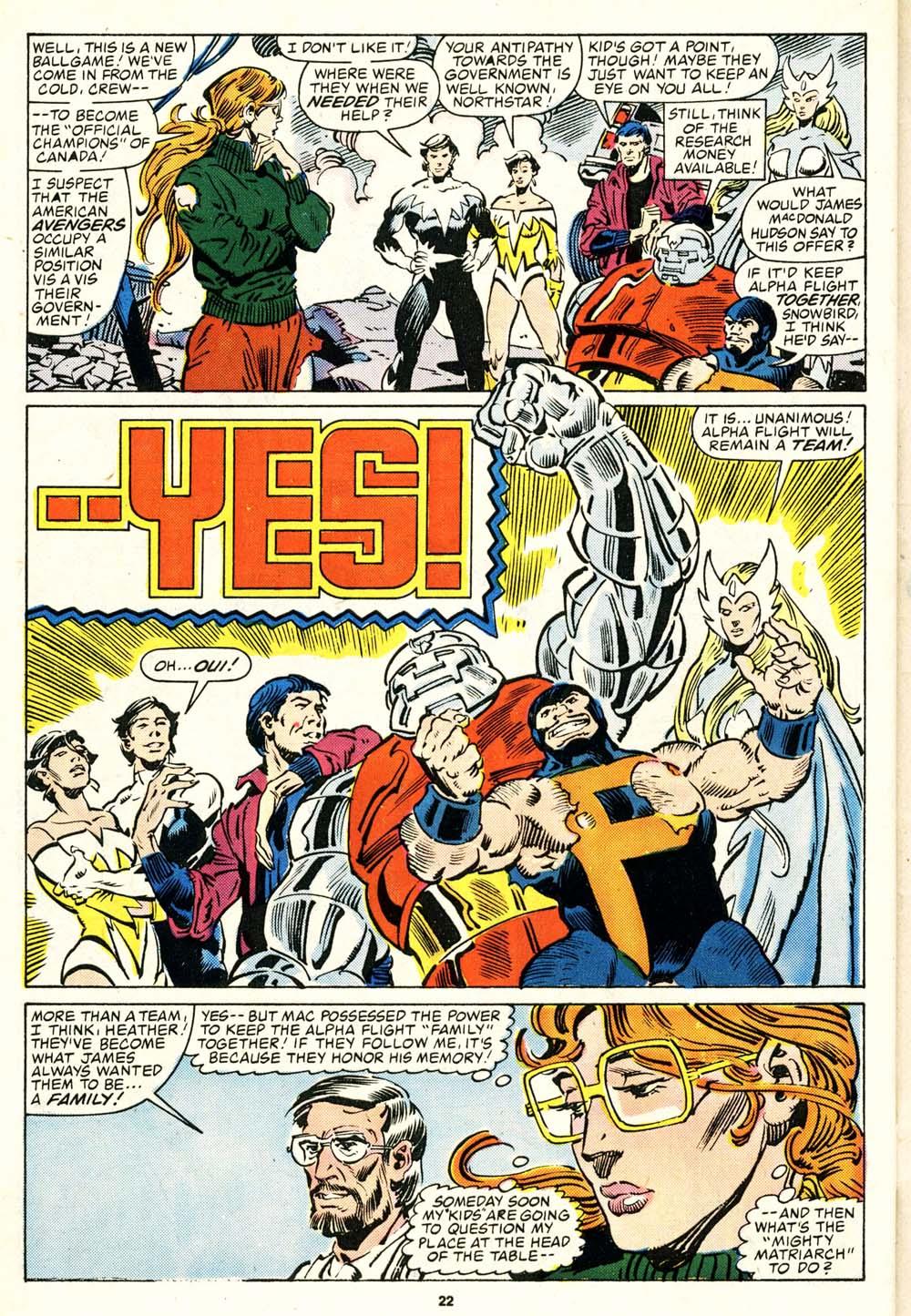 Read online Alpha Flight (1983) comic -  Issue #29 - 23