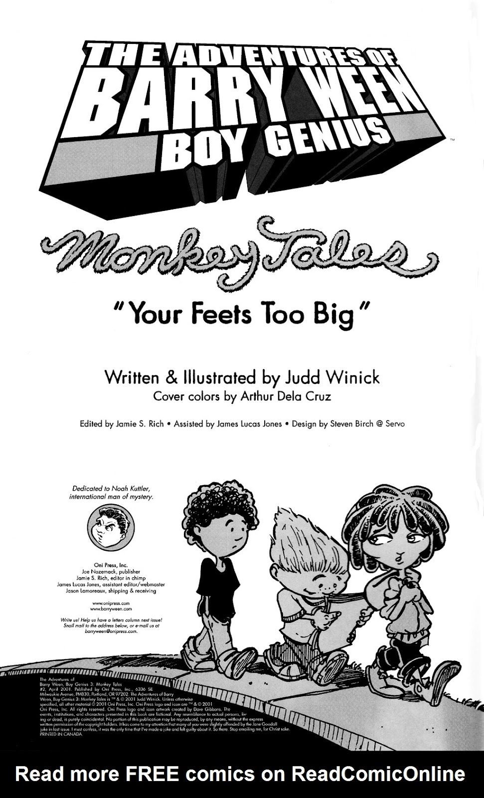 Read online The Adventures of Barry Ween, Boy Genius 3: Monkey Tales comic -  Issue #2 - 2