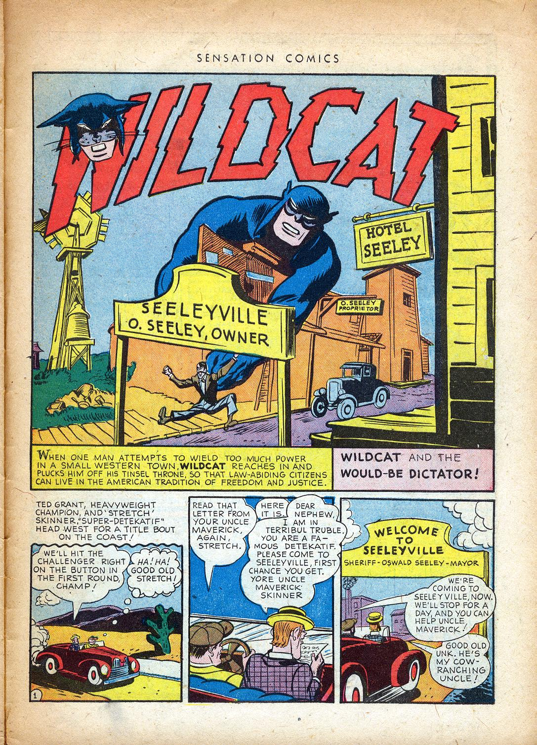 Read online Sensation (Mystery) Comics comic -  Issue #37 - 41