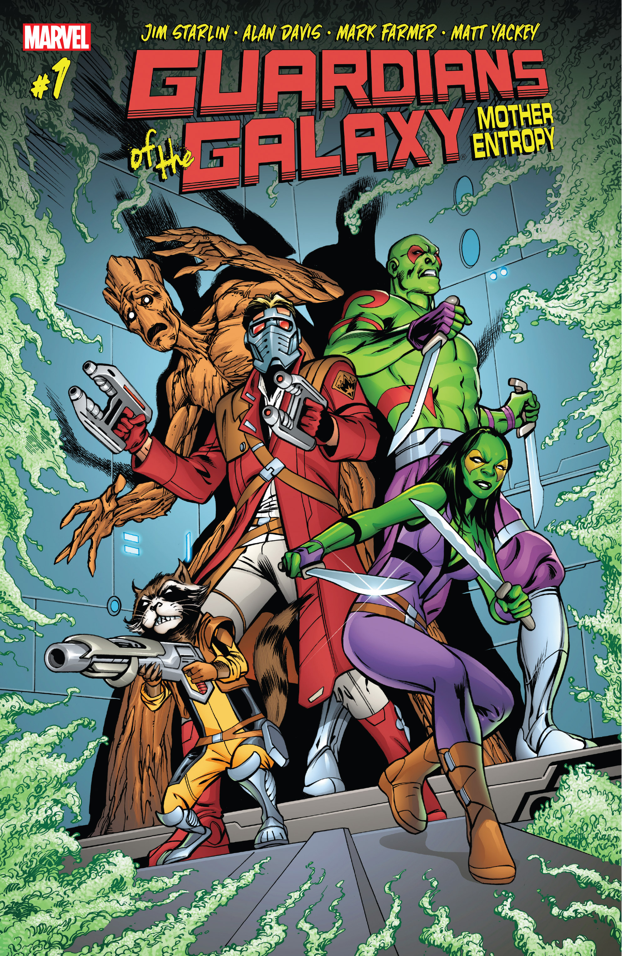 Read online Guardians of the Galaxy: Mother Entropy comic -  Issue #1 - 1