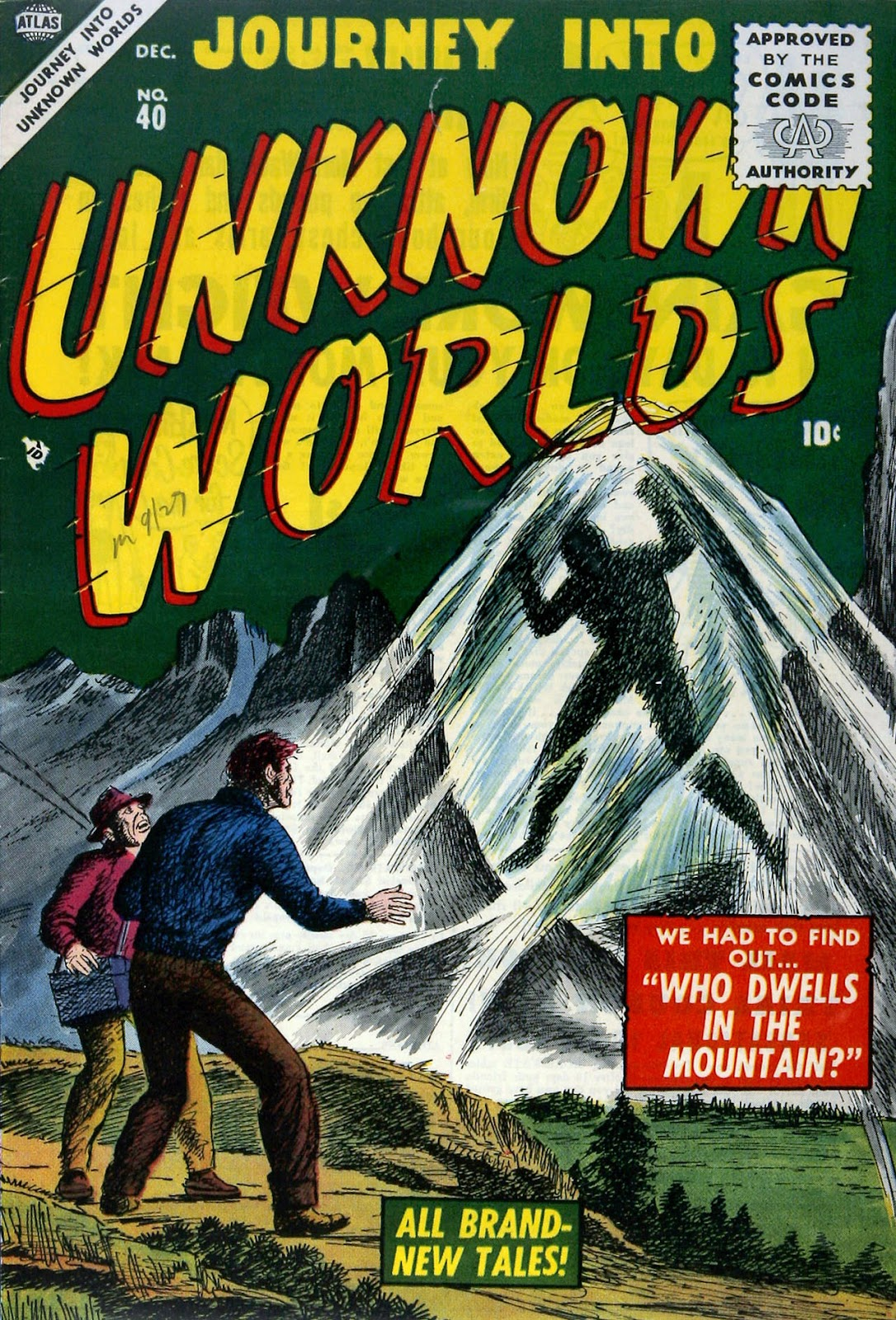 Journey Into Unknown Worlds (1950) issue 40 - Page 1