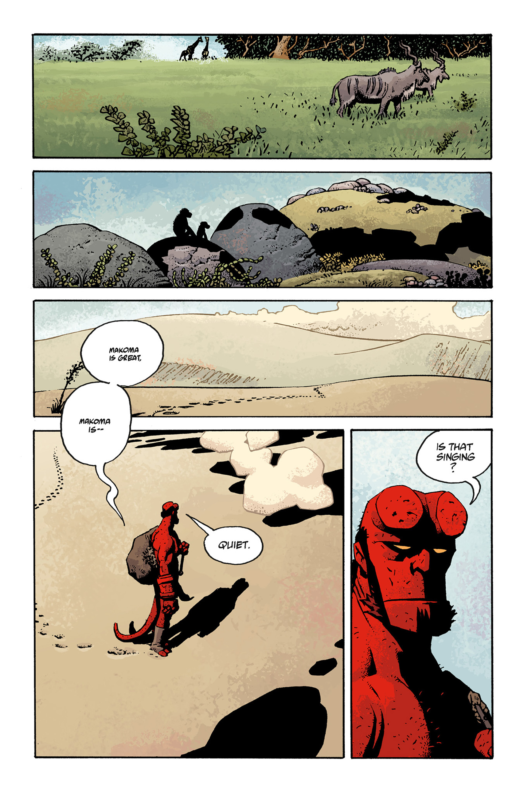 Read online Hellboy: The Troll Witch and Others comic -  Issue # TPB - 108