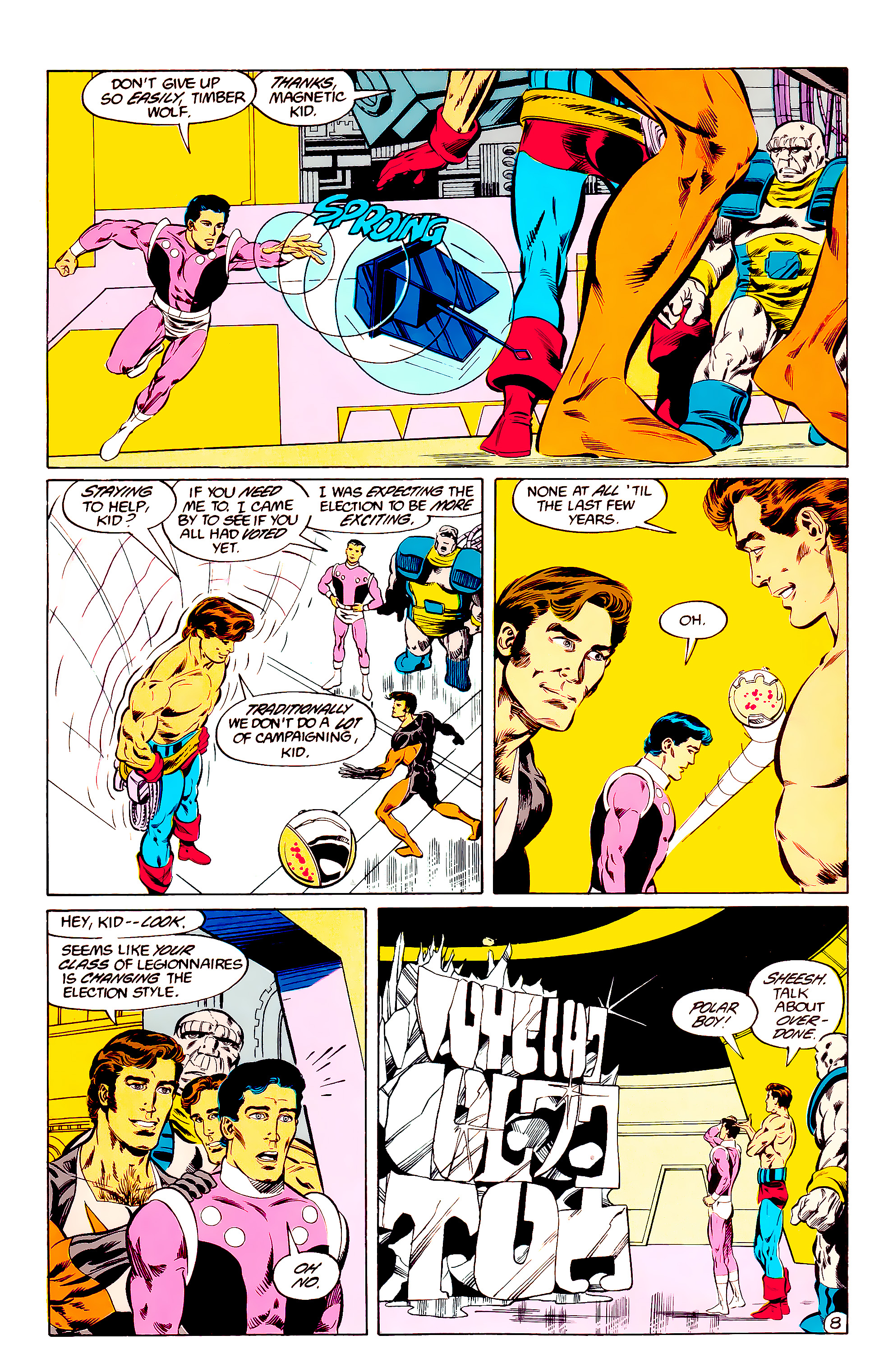 Legion of Super-Heroes (1984) 36 Page 8