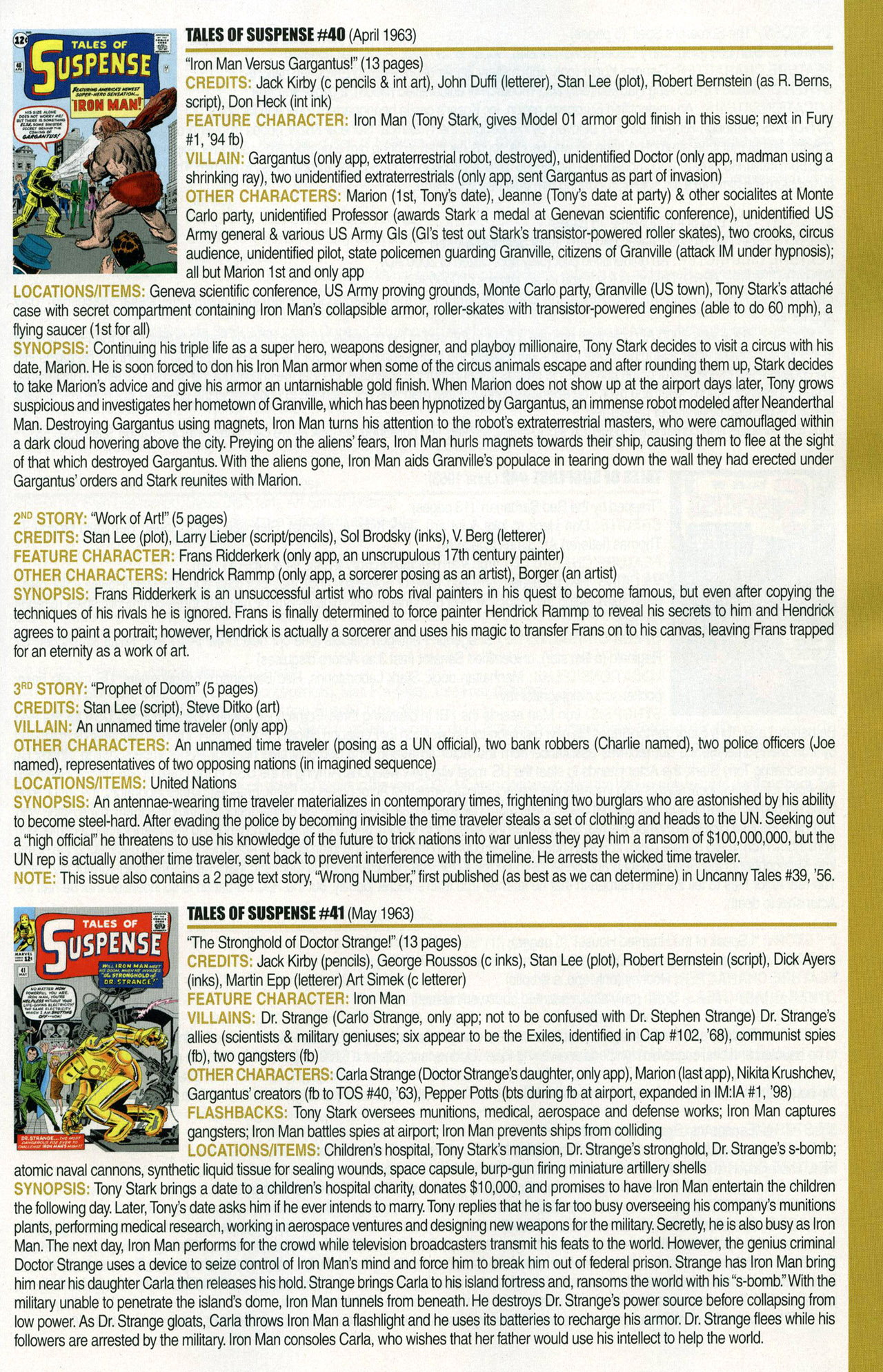 Read online Official Index to the Marvel Universe comic -  Issue #1 - 25