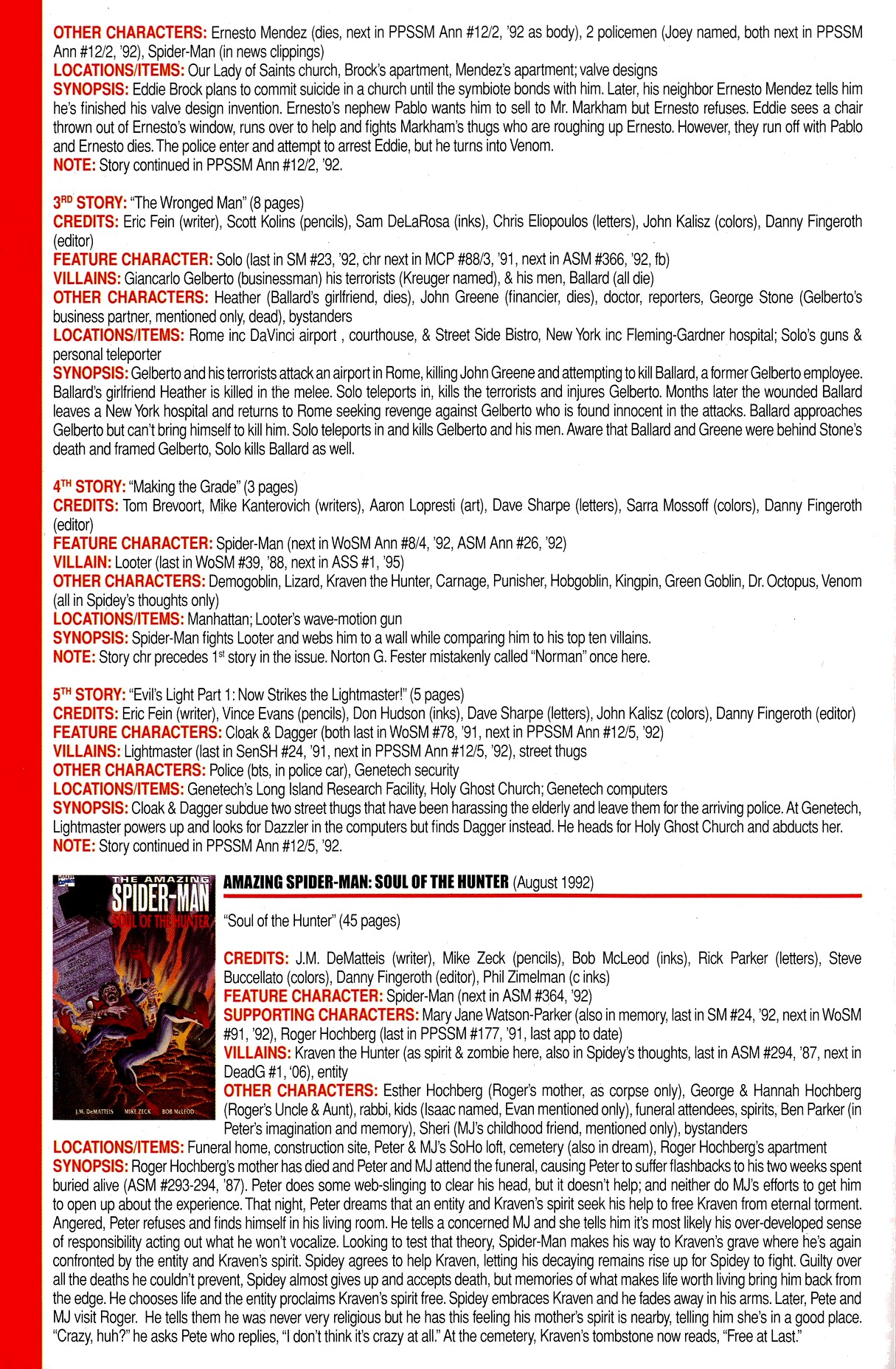 Read online Official Index to the Marvel Universe comic -  Issue #8 - 22