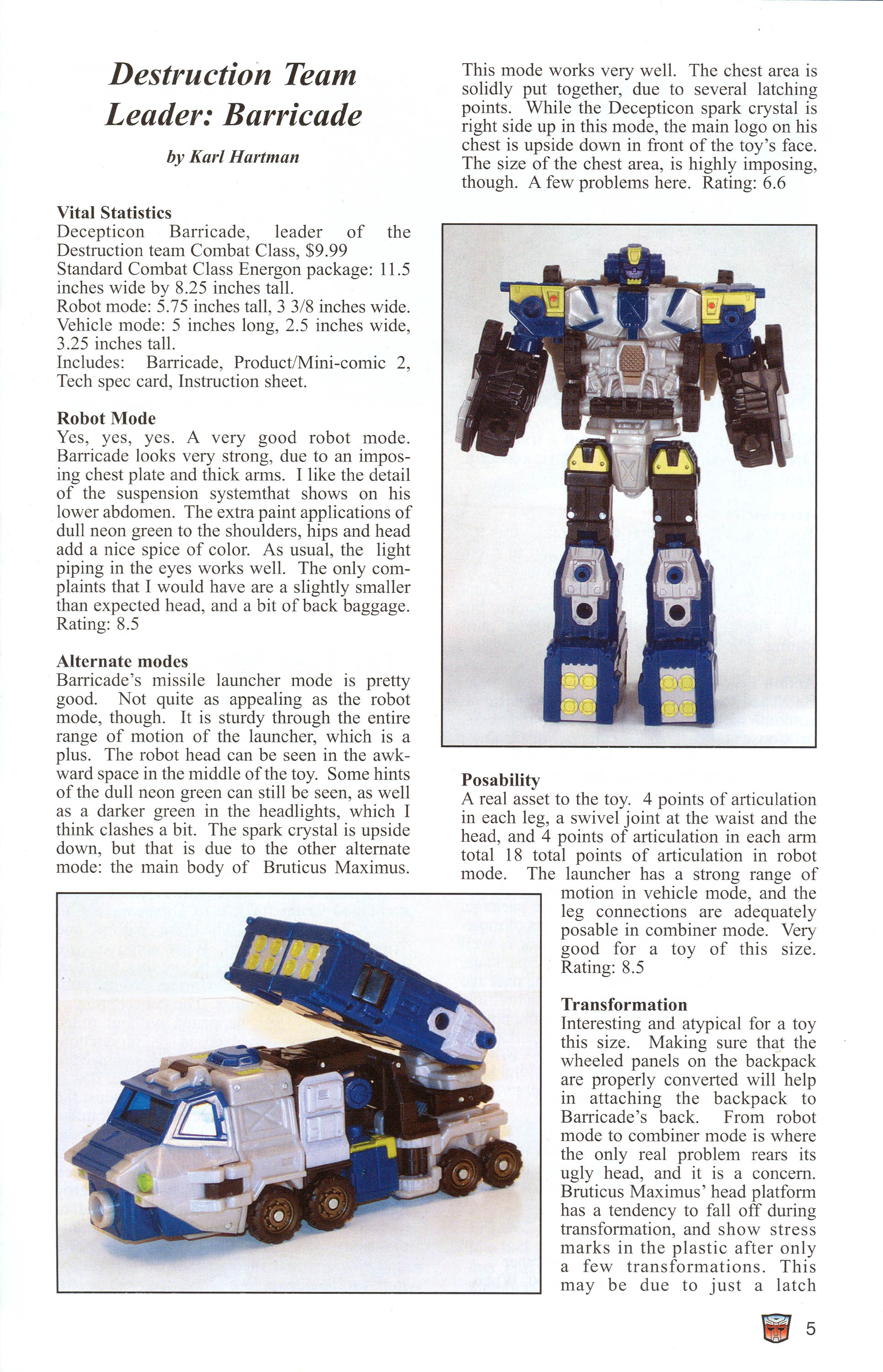 Read online Transformers: Collectors' Club comic -  Issue #1 - 5