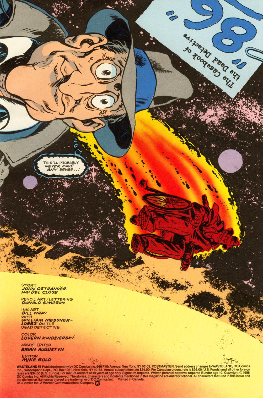 Wasteland (1987) 18 Page 2