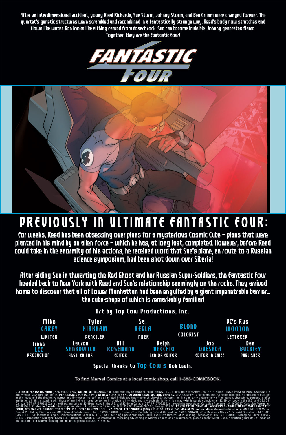 Read online Ultimate Fantastic Four (2004) comic -  Issue #50 - 2