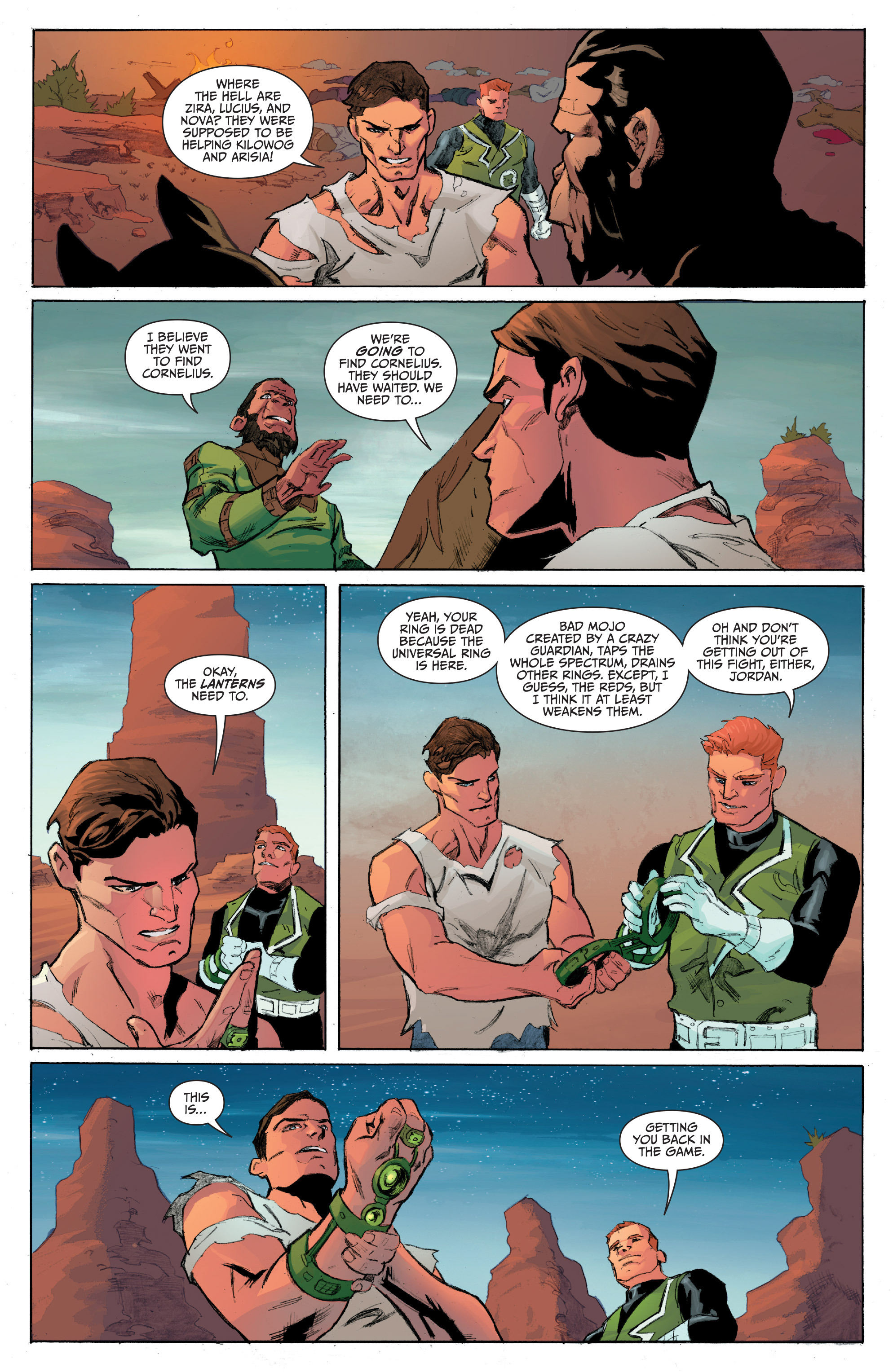 Read online Planet of the Apes/Green Lantern comic -  Issue #4 - 13