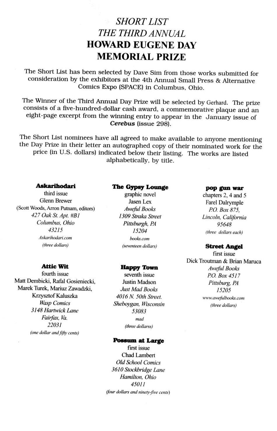 Cerebus Issue #296 #294 - English 43