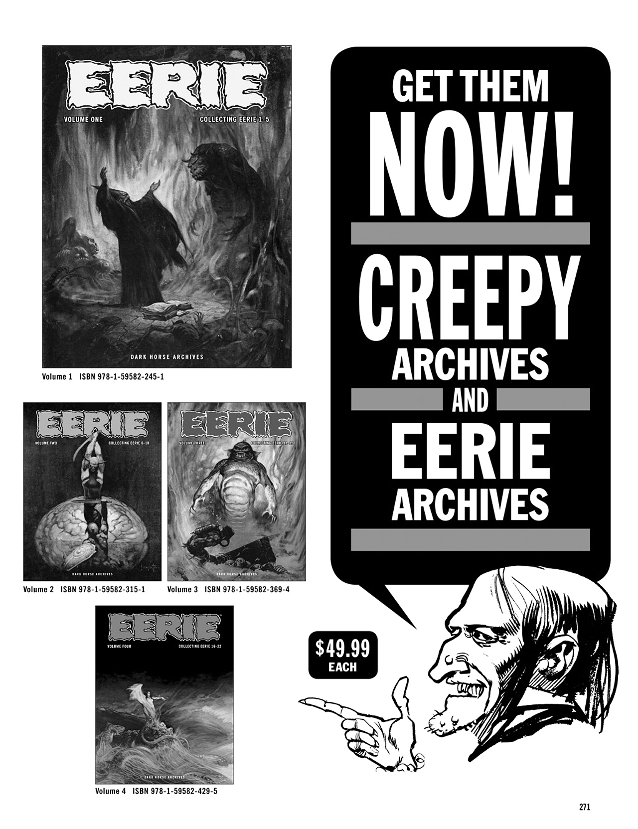 Read online Eerie Archives comic -  Issue # TPB 5 - 272