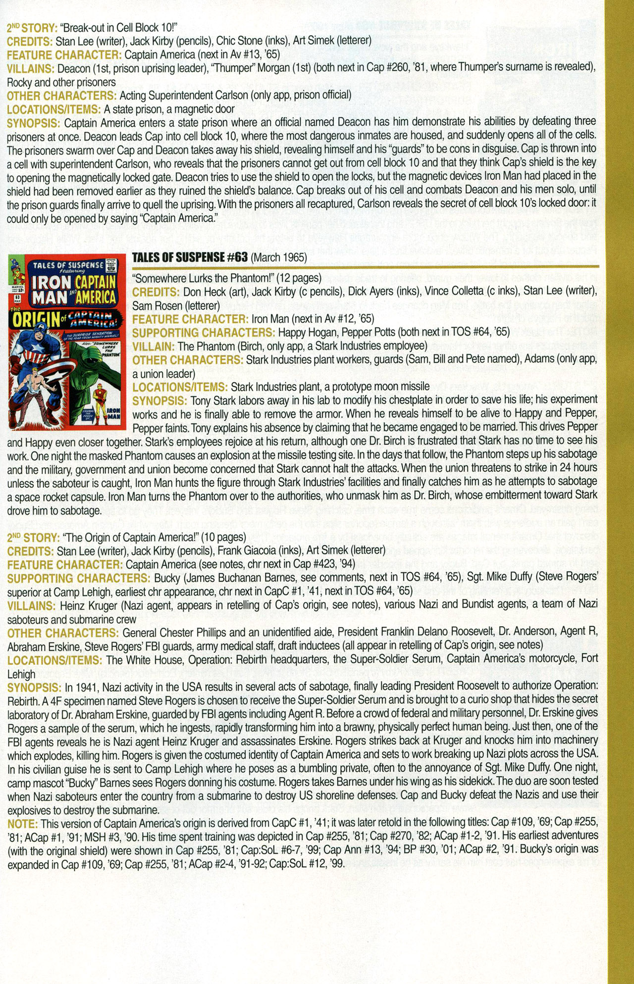 Read online Official Index to the Marvel Universe comic -  Issue #1 - 39