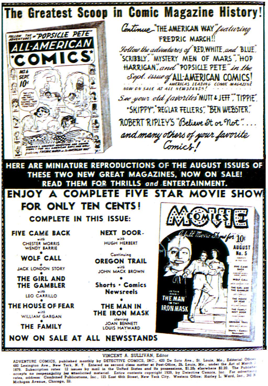 Read online Adventure Comics (1938) comic -  Issue #42 - 2