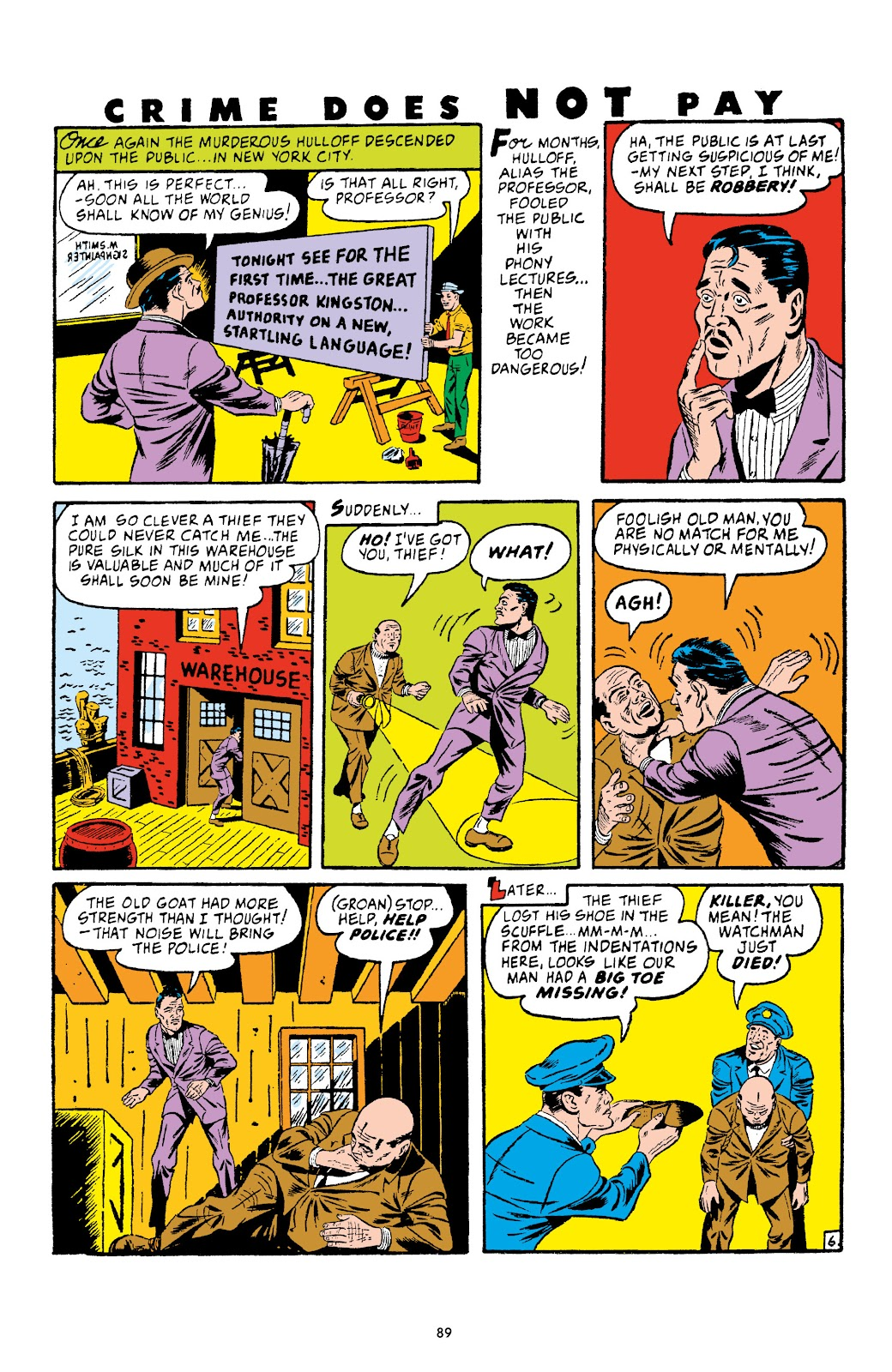 Read online Crime Does Not Pay Archives comic -  Issue # TPB 4 (Part 1) - 89