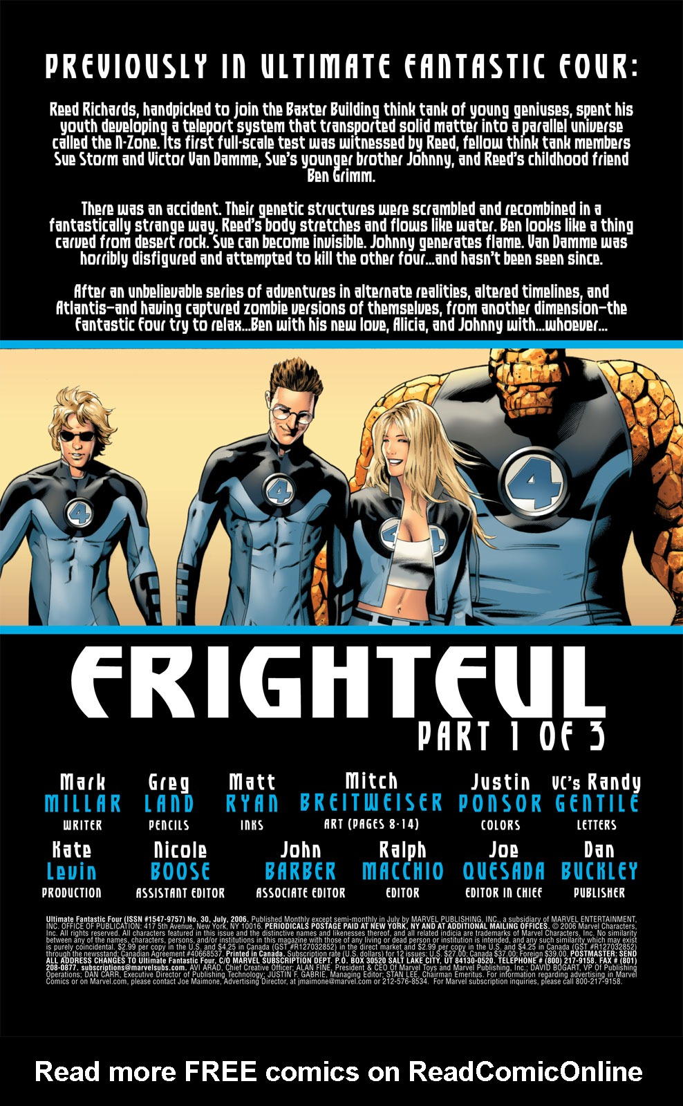 Read online Ultimate Fantastic Four (2004) comic -  Issue #30 - 2