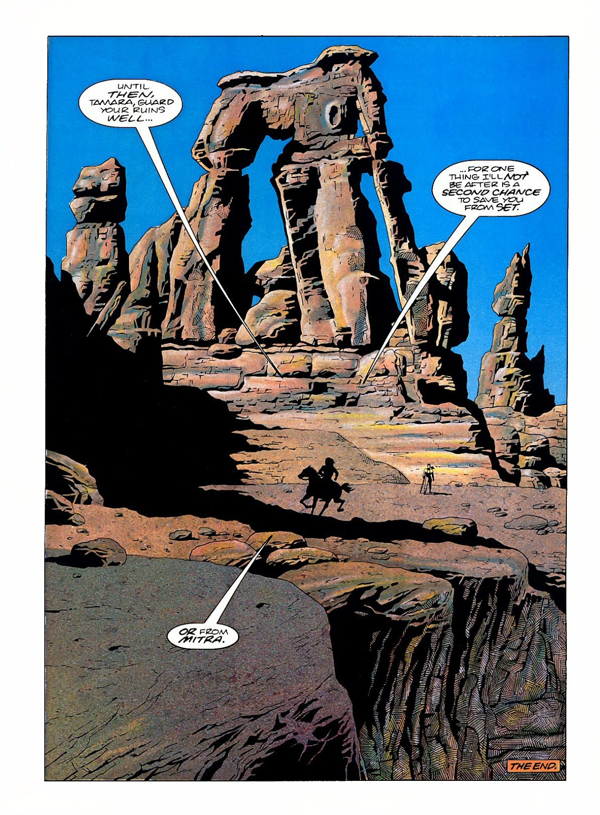 Read online Marvel Graphic Novel: Conan the Barbarian: The Skull of Set comic -  Issue # Full - 63