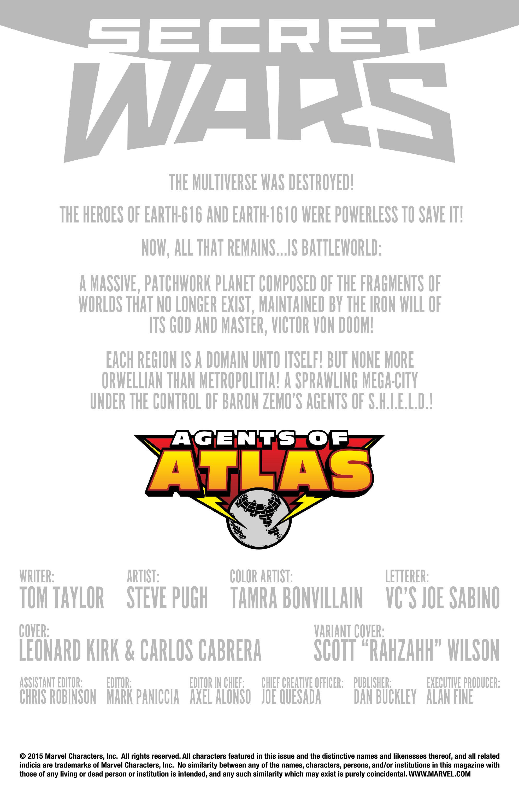 Read online Secret Wars: Agents of Atlas comic -  Issue # Full - 2