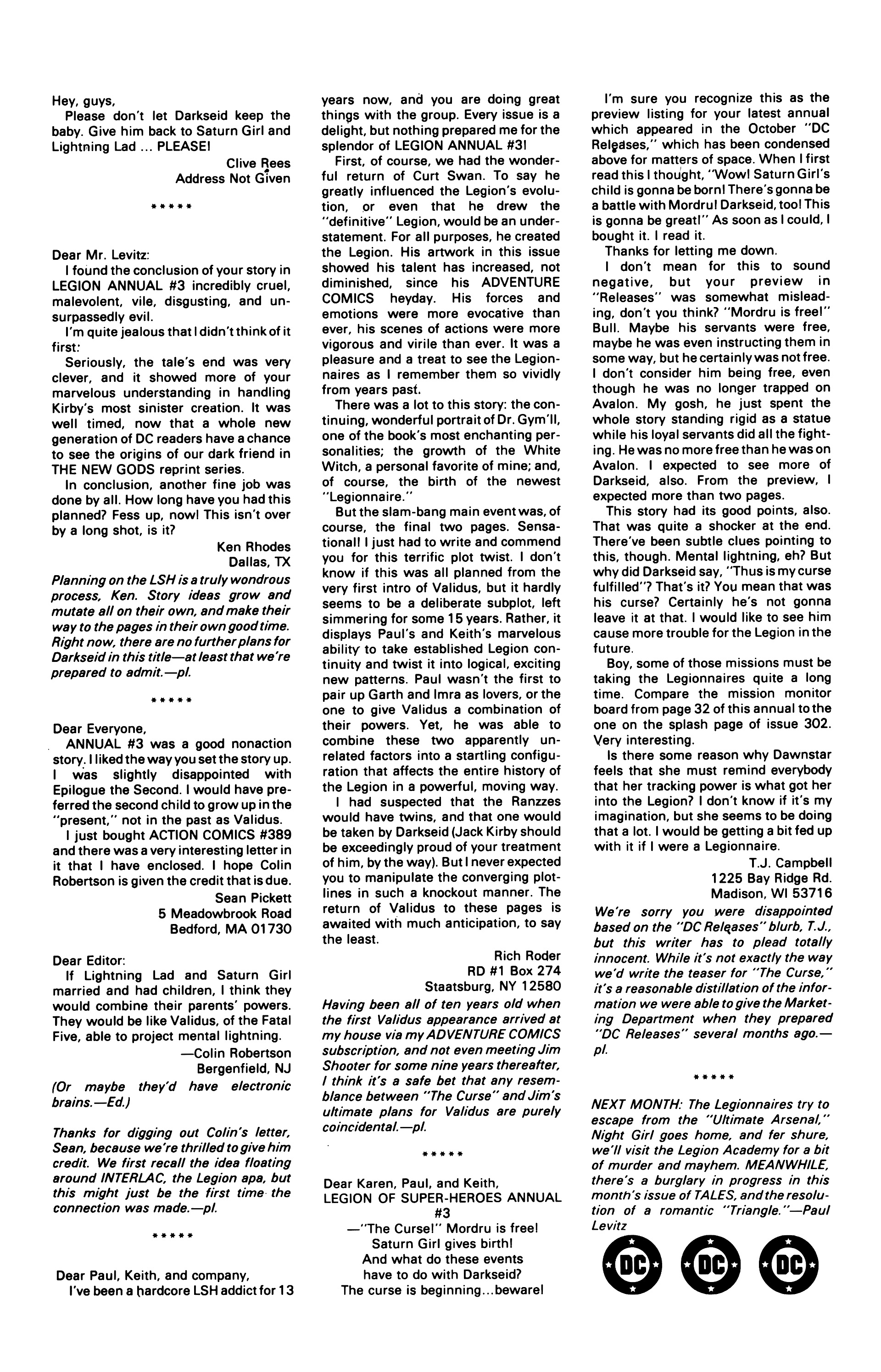 Legion of Super-Heroes (1984) 7 Page 26