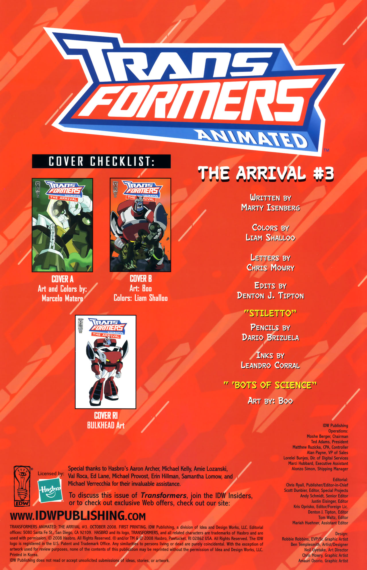 Read online Transformers Animated: The Arrival comic -  Issue #3 - 2
