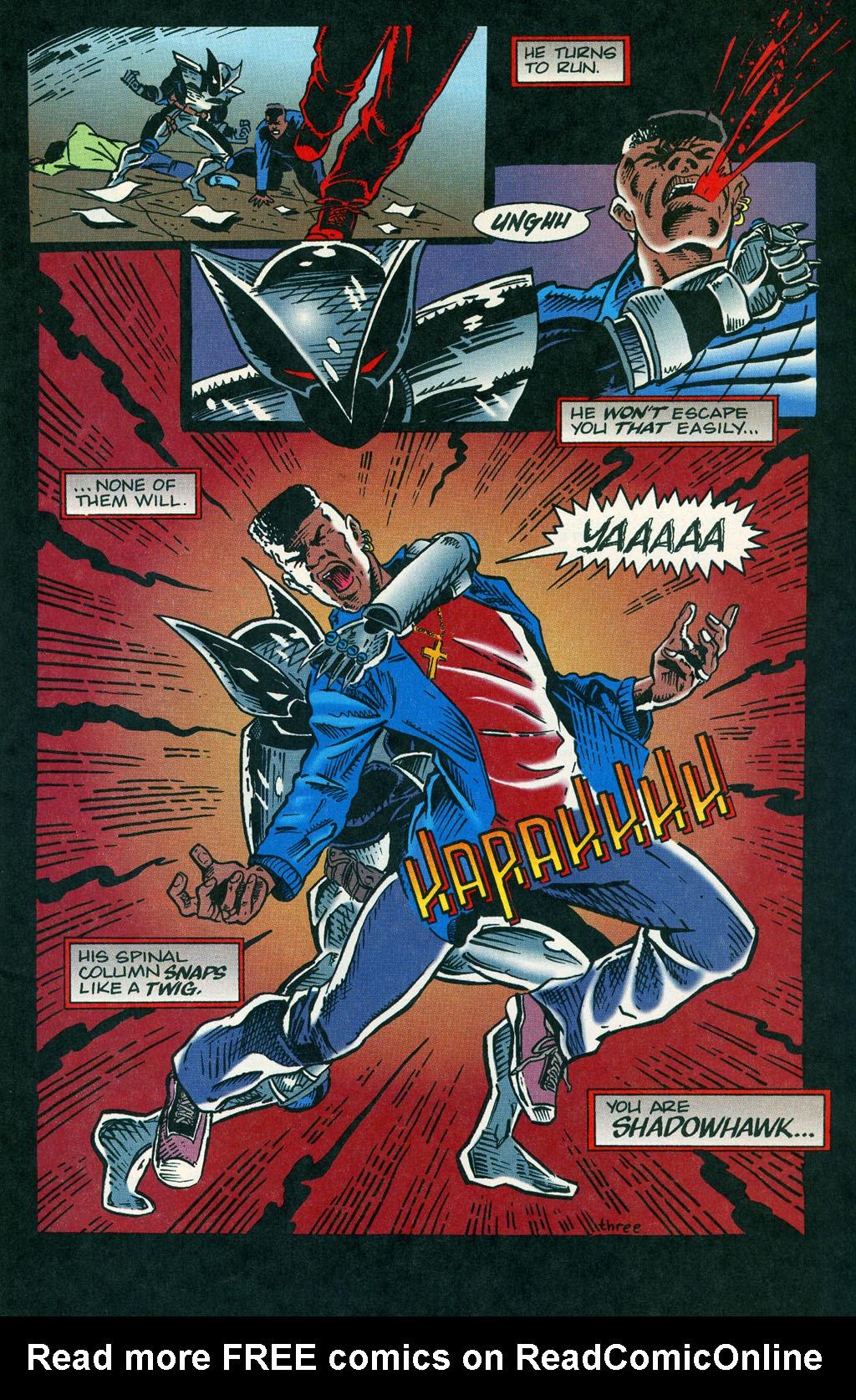 Read online ShadowHawk comic -  Issue #1 - 6