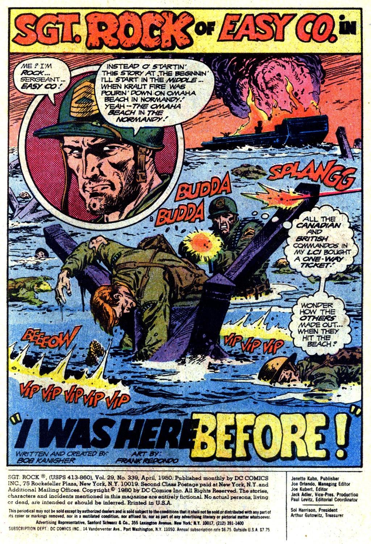 Read online Sgt. Rock comic -  Issue #339 - 2
