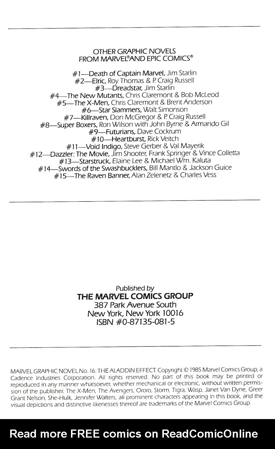 Marvel Graphic Novel 16_-_The_Aladdin_Effect Page 3