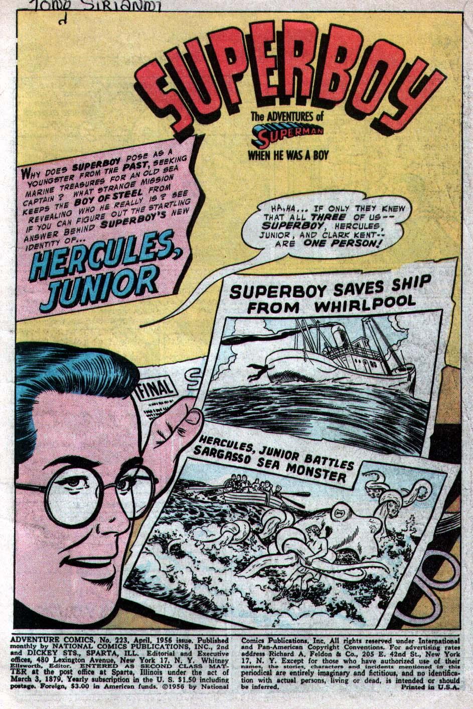 Read online Adventure Comics (1938) comic -  Issue #223 - 3