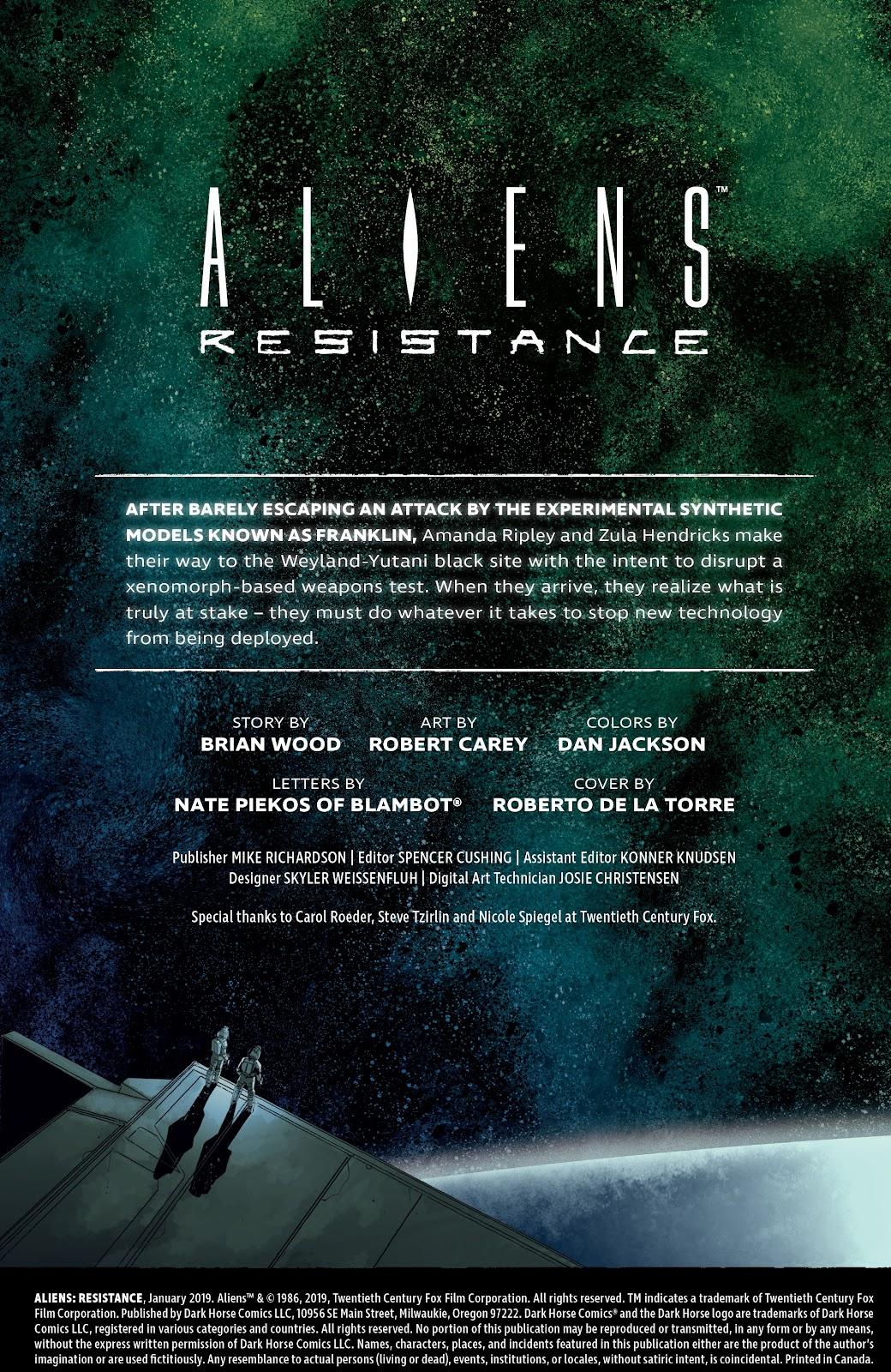 Read online Aliens: Resistance comic -  Issue #2 - 2