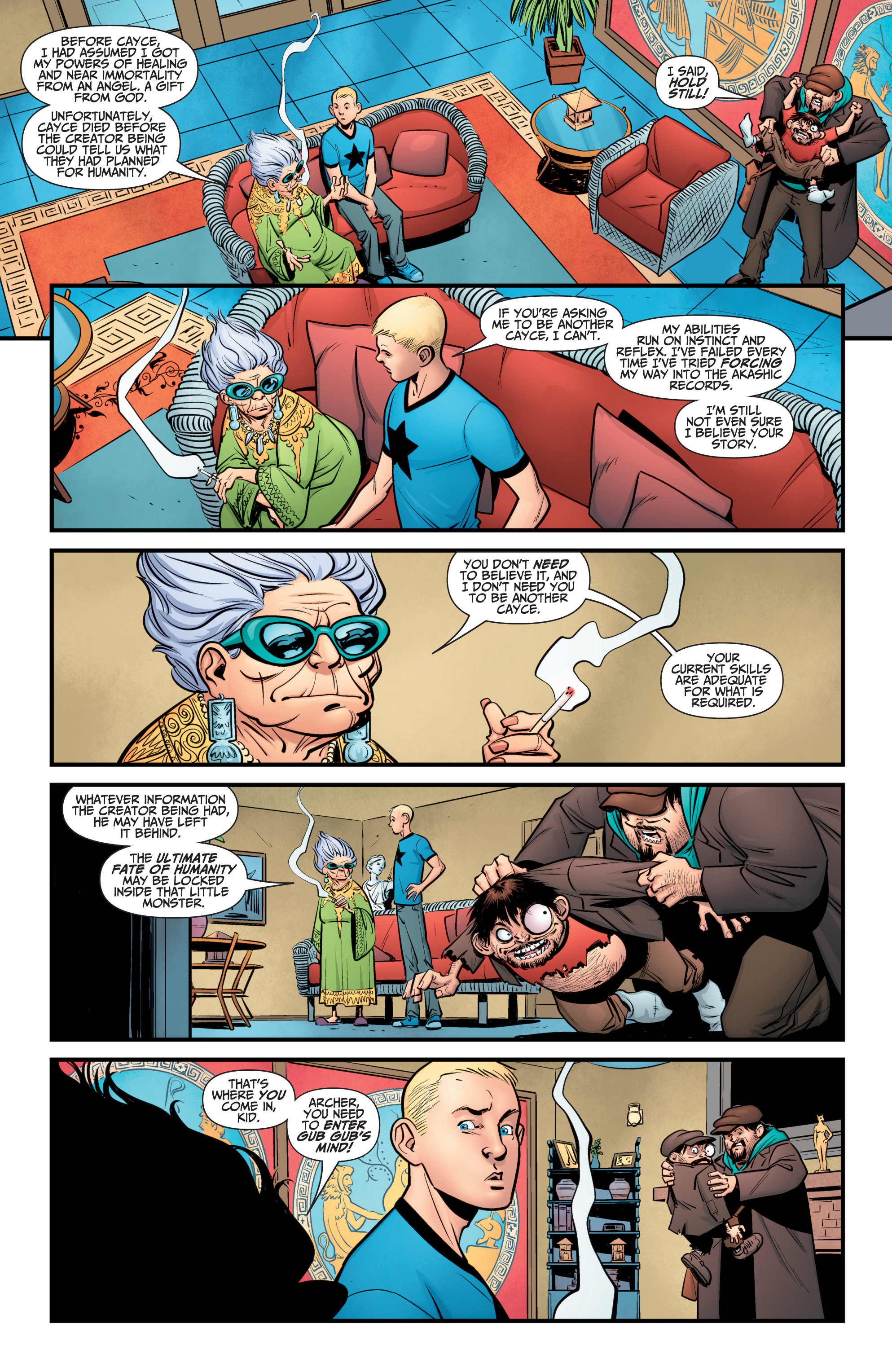 Read online A&A: The Adventures of Archer & Armstrong comic -  Issue #10 - 12