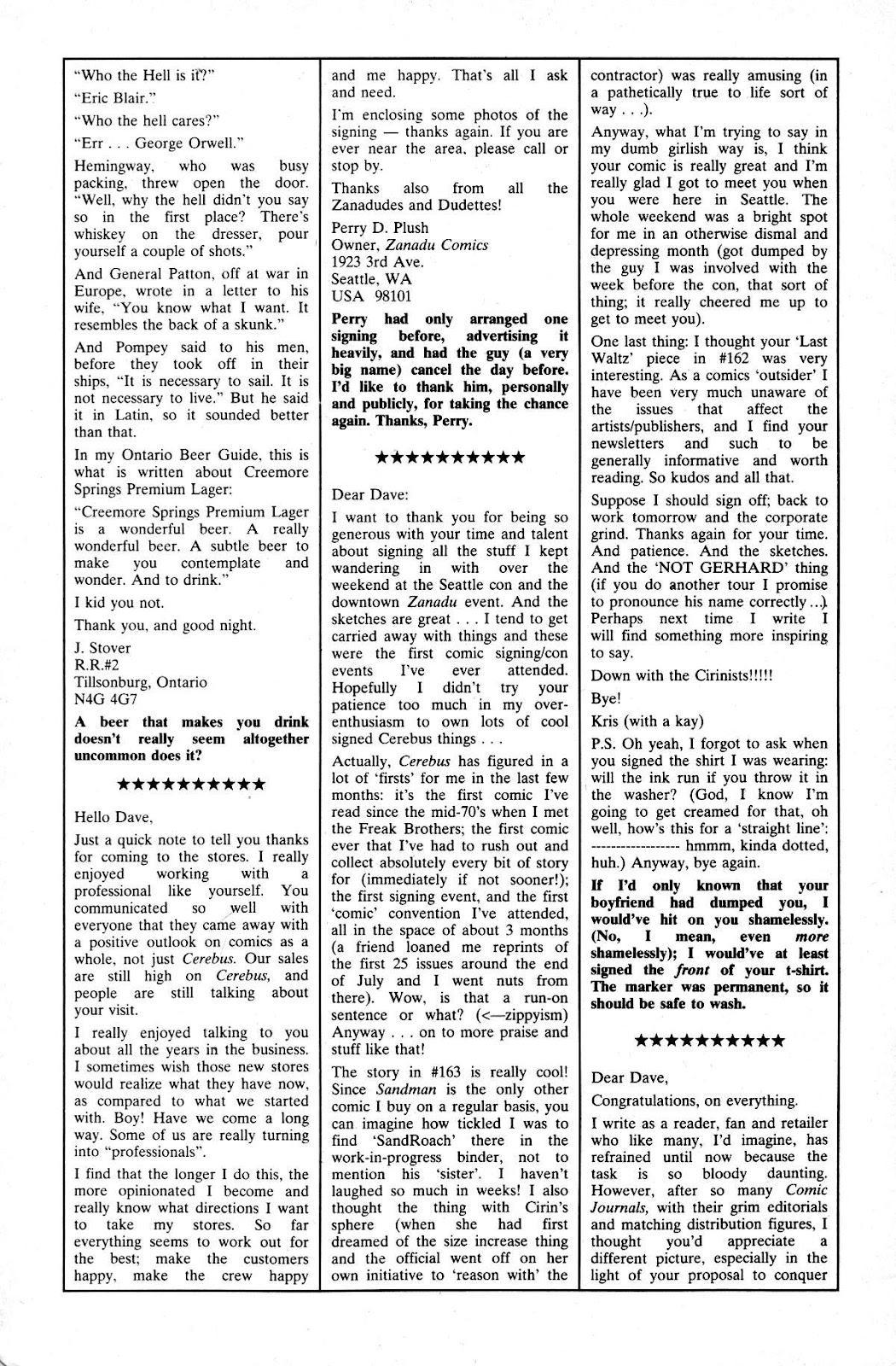 Cerebus Issue #165 #164 - English 29