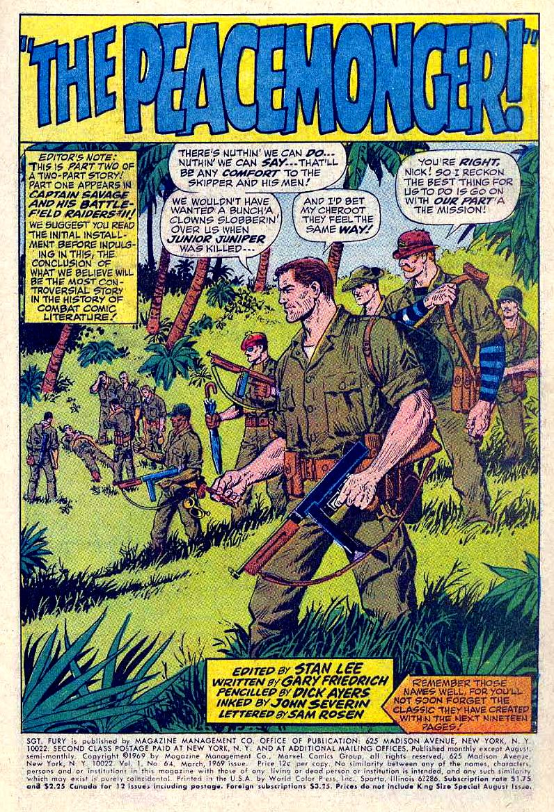 Read online Sgt. Fury comic -  Issue #64 - 3