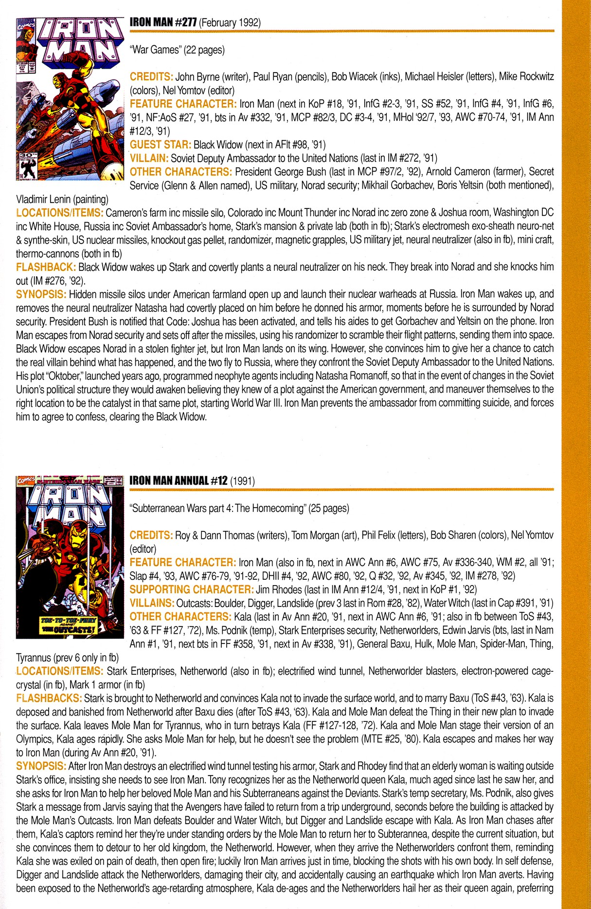 Read online Official Index to the Marvel Universe comic -  Issue #8 - 33