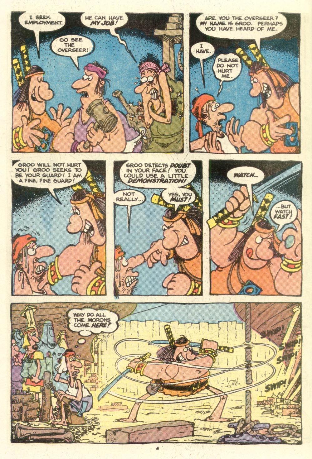 Read online Sergio Aragonés Groo the Wanderer comic -  Issue #16 - 4