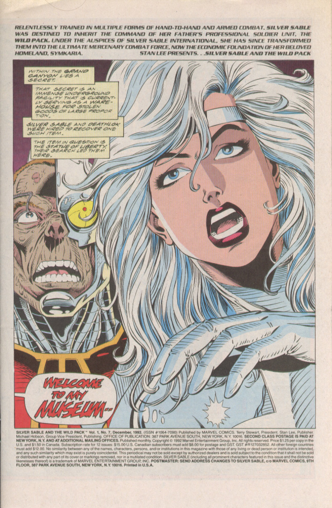 Read online Silver Sable and the Wild Pack comic -  Issue #7 - 2