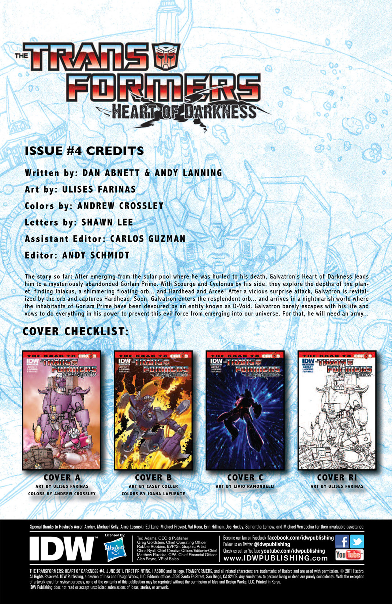 Read online Transformers: Heart of Darkness comic -  Issue #4 - 5
