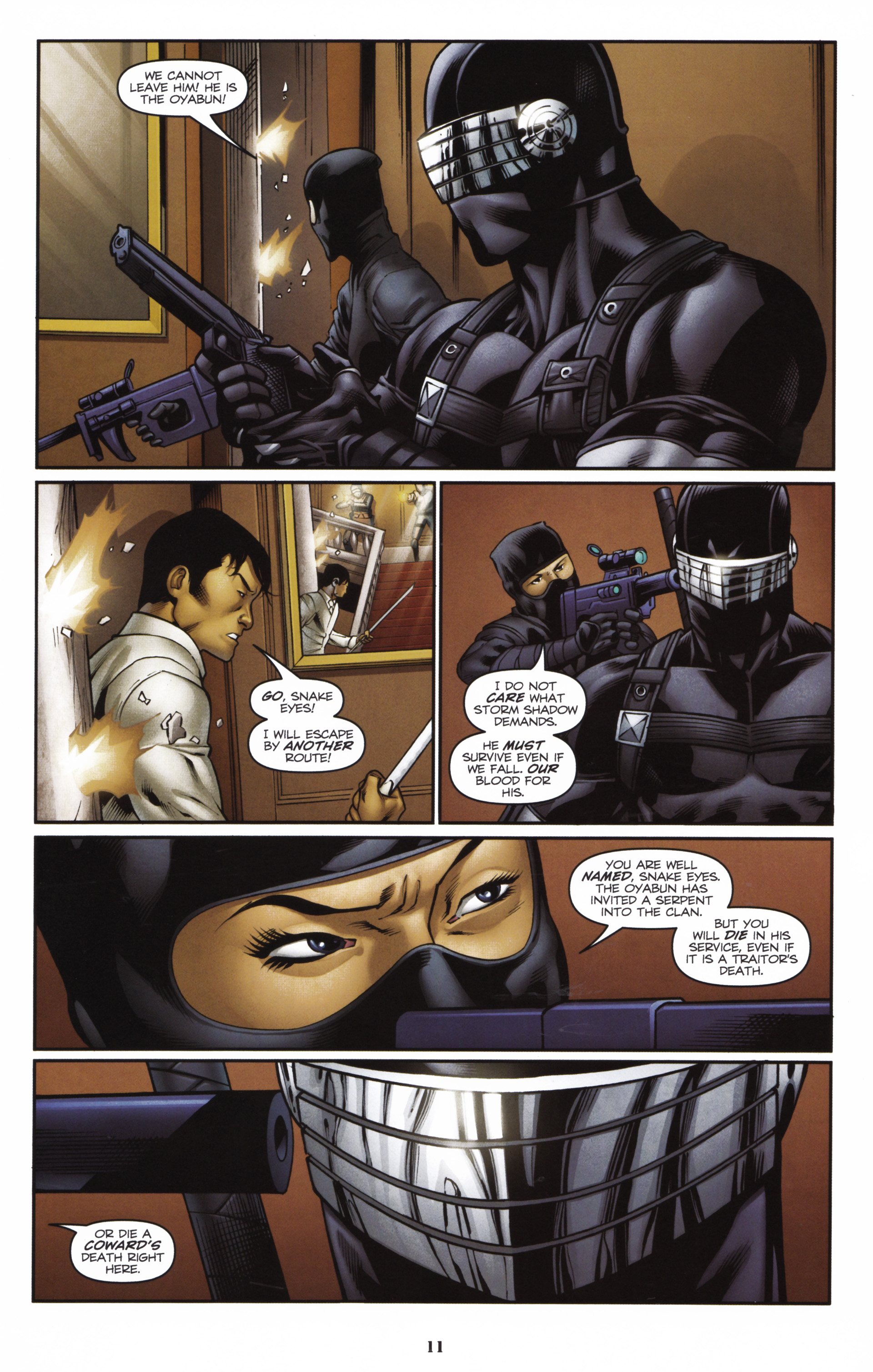 Read online Snake Eyes and Storm Shadow comic -  Issue #16 - 13