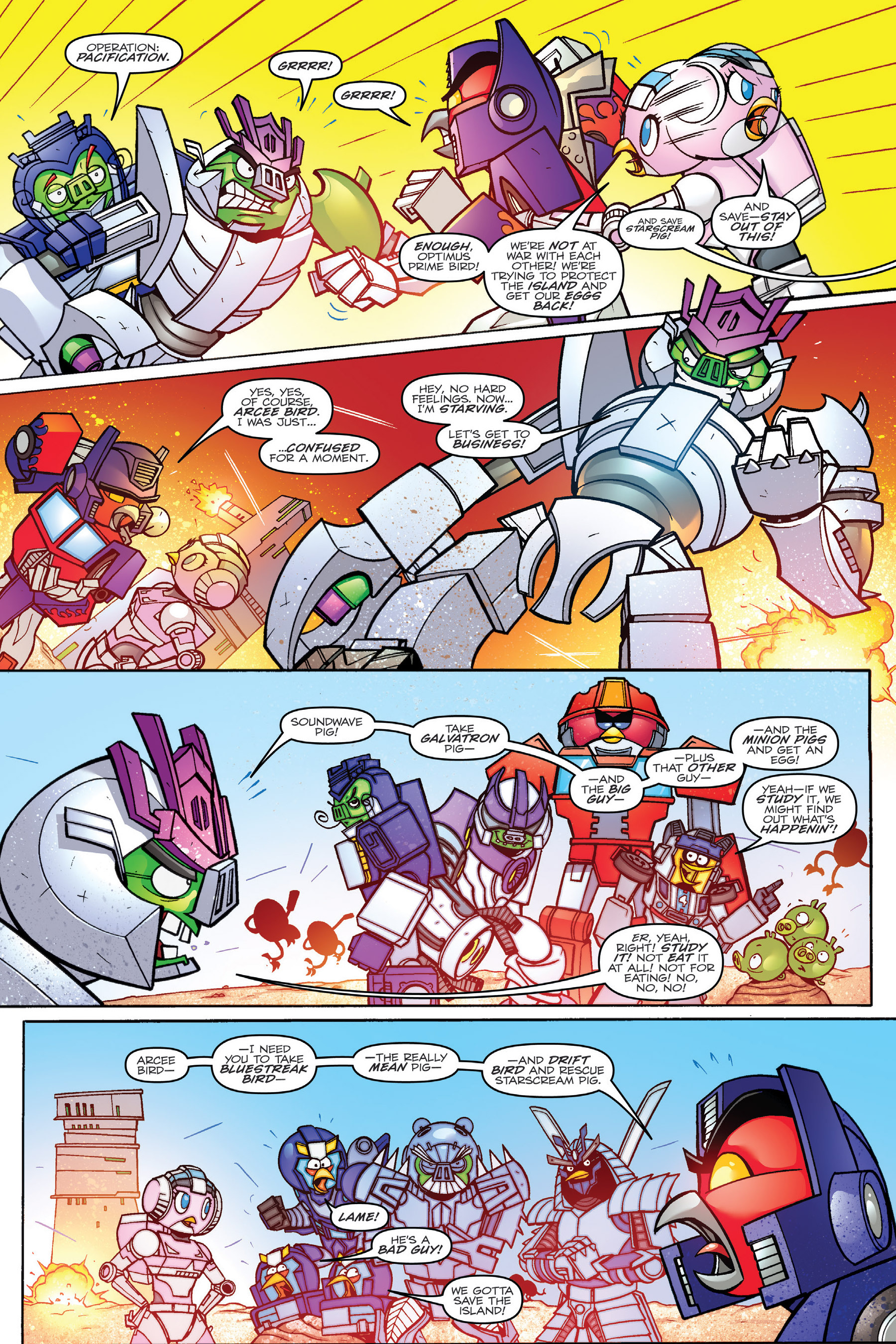 Read online Angry Birds Transformers: Age of Eggstinction comic -  Issue # Full - 54