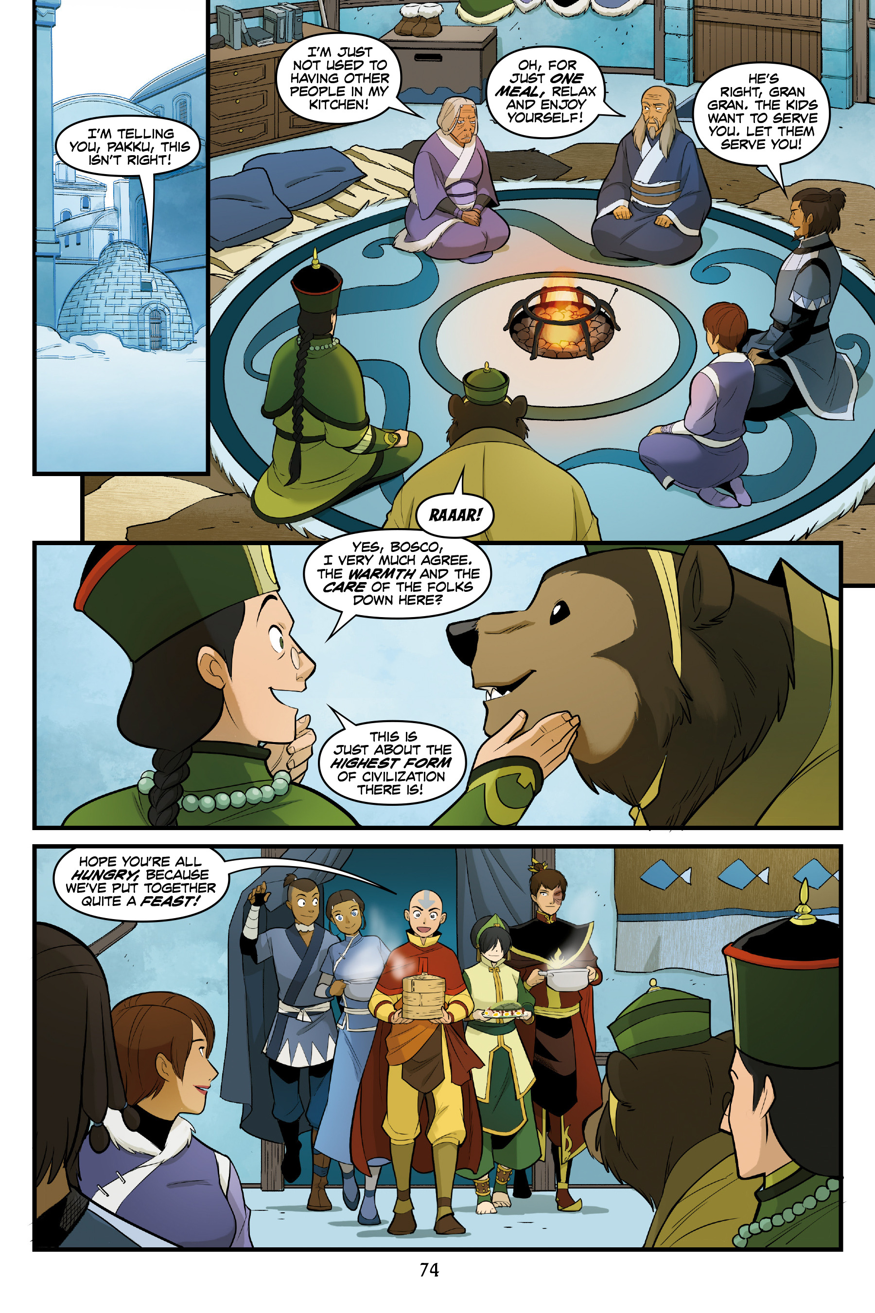 Read online Nickelodeon Avatar: The Last Airbender - North and South comic -  Issue #3 - 73