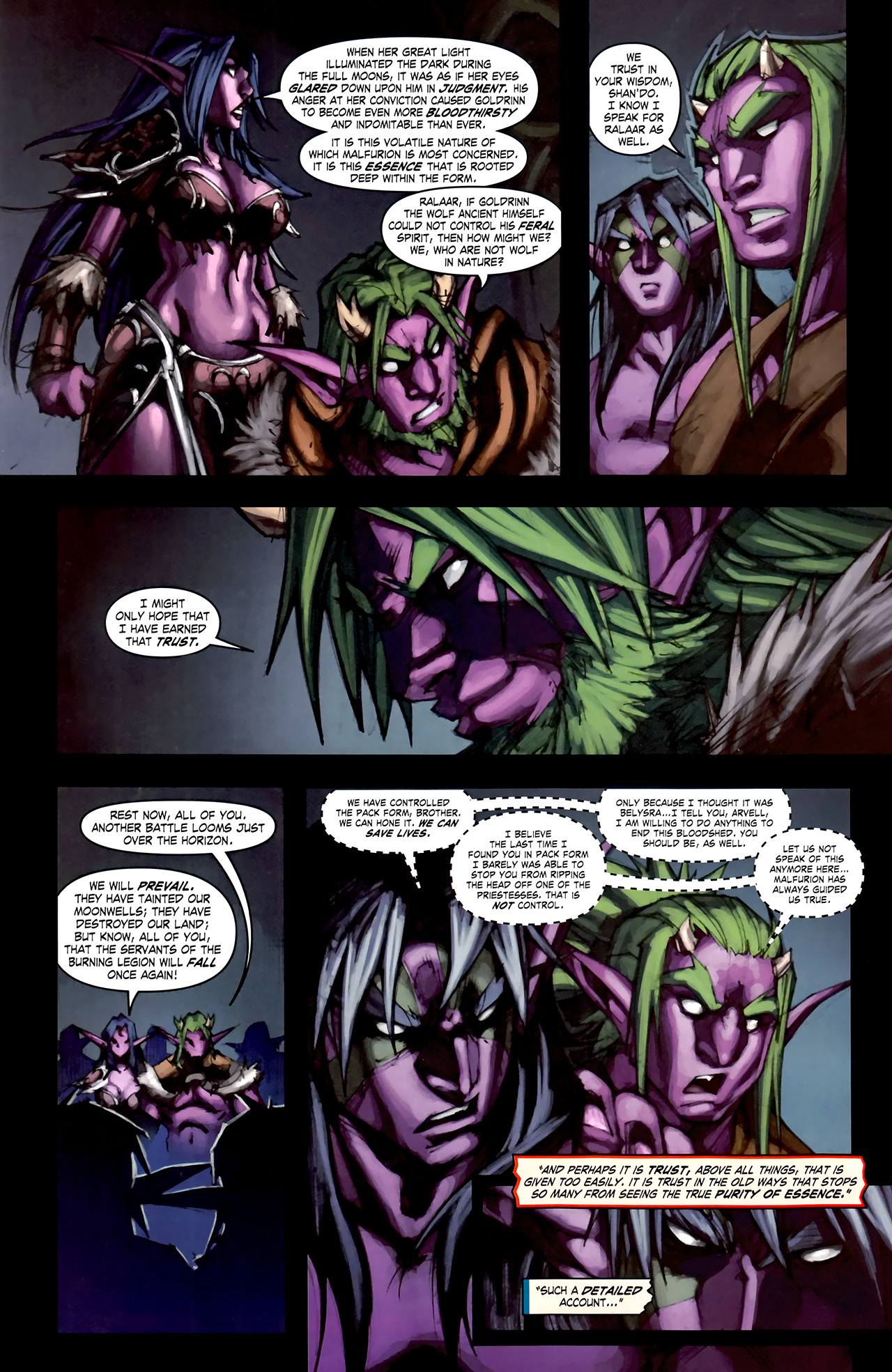 Read online World of Warcraft: Curse of the Worgen comic -  Issue #1 - 28