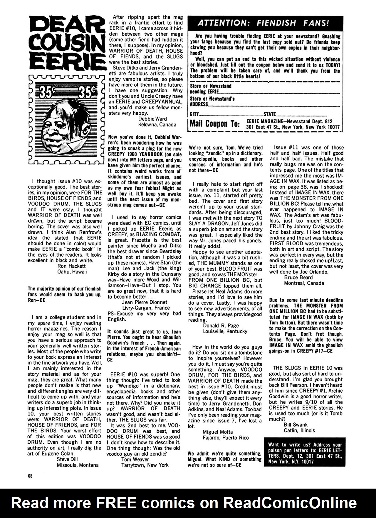 Read online Eerie Archives comic -  Issue # TPB 3 - 69