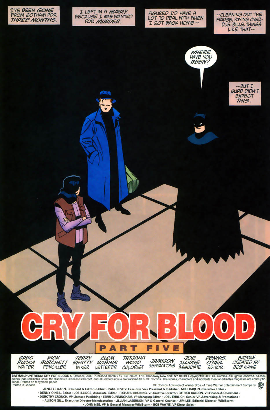 Read online Batman/Huntress: Cry for Blood comic -  Issue #5 - 2